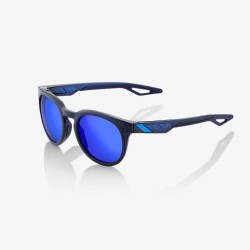 Ride 100% Campo Polished Translucent Blue/ Electric Blue Mirror Lens