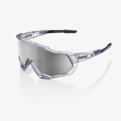100% Speedtrap Matte Translucent Crystal Grey/ HiPER Silver Mirror Lens + Clear Lens