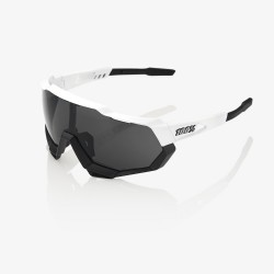 100% Speedtrap Matte White Black/ Smoke Lens