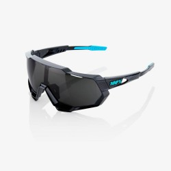 100% Speedtrap Polished Black Graphic/ Black Mirror Lens