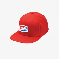 Ride 100% Essential J-Fit FlexFit Hat/ RED