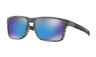 Oakley Holbrook Mix Woodstain Collection Prizm Sapphire Iridium