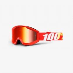 100% Strata Jr. (Youth) Goggle Furnace/ Red