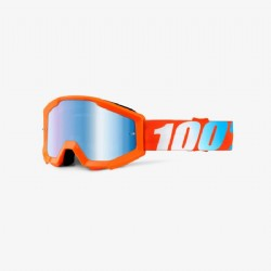100% Strata Jr. (Youth) Goggle Orange/ Mirror Blue