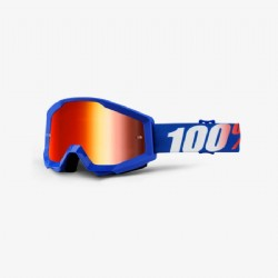 100% Strata Goggle Nation/ Mirror Red