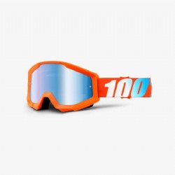 100% Strata Goggle Orange/ Mirror Blue