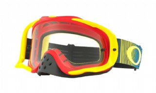 Oakley Crowbar MX Shockwave Red Yellow Blue/ Clear
