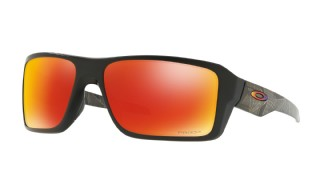Oakley Double Edge Matte Black Prizmatic/ Prizm Ruby Polarized