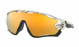 Oakley Jawbreaker Metallic Splatter Collection Splatter White/ 24K Iridium