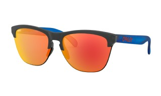 Oakley Frogskins Lite Maverick Vinales Collection Matte Black Ink/ Matte Trans Sapphire/ Prizm Ruby