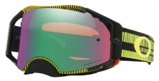 Oakley Airbrake MX Frequency Green Yellow/ Prizm MX Jade