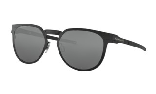 Oakey Diecutter Satin Black/ Black Iridium Polarized