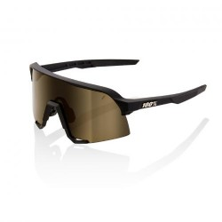 100% S3 Soft Tact Black/ Soft Gold Lens