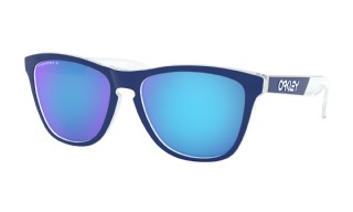 Oakley Frogskins Crystalline Collection Polished Clear/ Prizm Sapphire Polarized