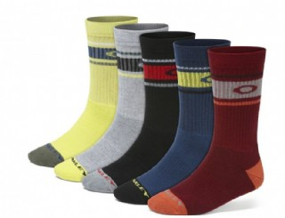 Oakley Performance Basic Crew Sock 5 Pack Assorted