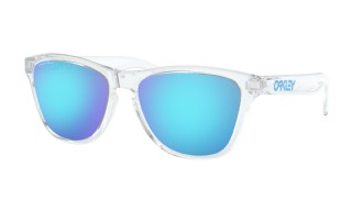 Oakley Frogskins XS (extra small) Polished Clear/ Prizm Sapphire Iridium
