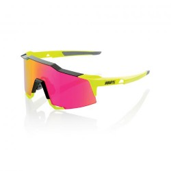 100% Speedcraft Polished Black Fluorescent Yellow/ Purple Multilayer Mirror Lens
