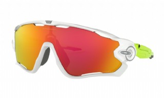 Oakley Jawbreaker Origins Collection Polished White/ Prizm Ruby
