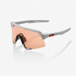 100% S3 Soft Tact Stone Grey/ HiPER® Coral Lens + Clear Lens