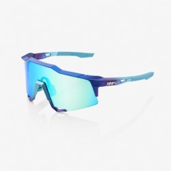 100% Speedcraft Matte Metallic Into the Fade Blue/ Topaz Multilayer Mirror Lens