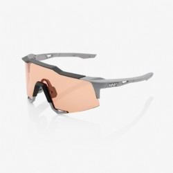 100% Speedcraft Soft Tact Stone Grey/ HiPER® Coral Lens