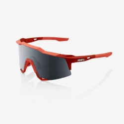 100% Speedcraft Soft Tact Coral/ Black Mirror Lens + Clear Lens