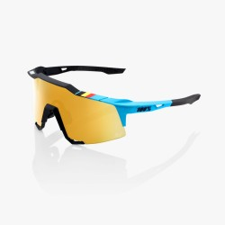 100% Speedcraft BWR Black/ Soft Gold Mirror Lens