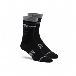 Ride 100% Performance Cycling Socks/ Black/Grey