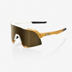 100% S3 Peter Sagan LE White Gold Soft Gold Mirror Lens + Clear Lens