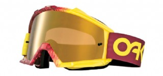 Oakley Proven MX Factory Fade Red-Yellow/ Fire Iridium & Clear
