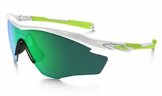 Oakley M2 Frame Fingerprint Collection Polsihed White/ Jade Iridium Polarized