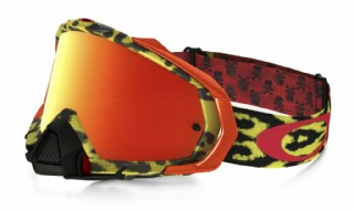 Oakley Mayhem Pro MX Troy Lee Design Cheetah Yellow/ Fire Iridium
