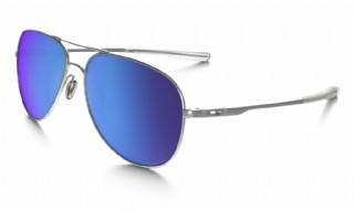 Oakley Elmont Large Satin Chrome/ Sapphire Iridium Polarized