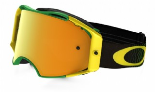 Oakley Airbrake MX Shockwave Green/ Yellow/ 24K Iridium