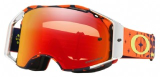 Oakley Airbrake MX Troy Lee Design Megaburst Org Navy/ Prizm Torch Iridium