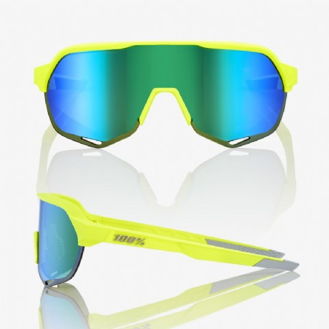 Ride 100% S2 Matte Fluo Yellow/ Green Multilayer Mirror