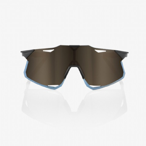100% Hypercraft Matte Black/ Soft Gold Mirror Lens + Clear Lens Included