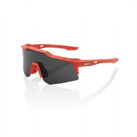 100% Speedcraft XS Soft Tact Coral/ Smoke Lens & Clear lens